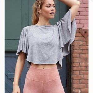 Free People Sweet Thing Tee Heather Gray Small